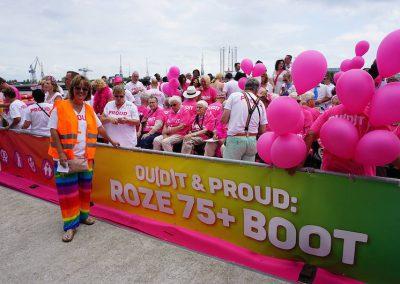 Roze 75+ boot